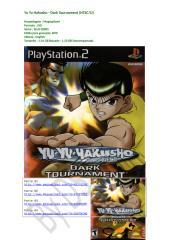 Yu Yu Hakusho Dark Tournament - PS2 Completo.doc
