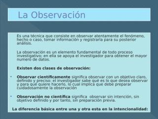 Metodos de Observacion directa