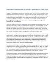 Real estate professionals and the Internet - Buying and Sell Actual Estate.pdf
