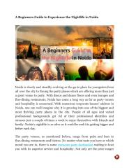 A Beginners Guide to Experience the Nightlife in Noida.pdf