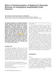 Effect of Cyclotrimerization of Bisphenol-A Dicyanate.pdf