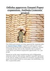 Odisha approves Emami Paper expansion, Ambuja Cements' project.pdf