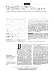bullying, psychosocial adjustment, and academic performance in elementary school.pdf