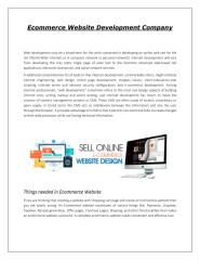 Ecommerce Website Development Company.pdf