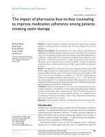 The impact of pharmacist face-to-face counseling.pdf