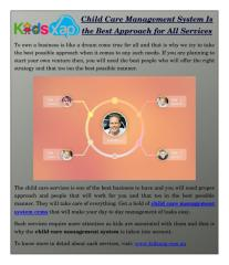 Child Care Management System Is the Best Approach for All Services.pdf