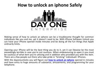 How to unlock an iphone Safely.pdf