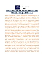Prevent Some Common Mistakes While Filing a Divorce.docx
