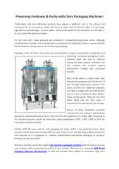 Preserving freshness & purity with Dairy Packaging Machines.pdf